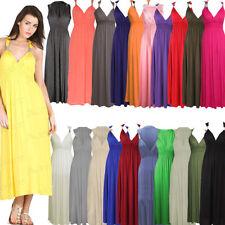 Stretch Long Regular Size Dresses for Women