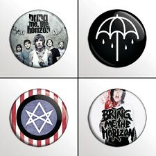 "4-Piece Bring Me The Horizon (BMTH) 1"" Band Pinback Buttons / Pins / Badge Set"