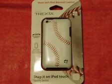 New Trexta White Baseball Case Leather Cover For Apple iPod Touch 4G 4th Gen