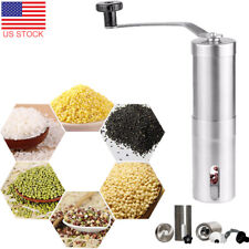Manual Coffee Grinder Conical Burr Mill Beans Hand Turkish Portable French Press