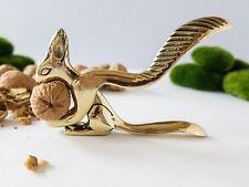 Antique Vintage Brass Nibbling Squirrel Nutcracker Bronze