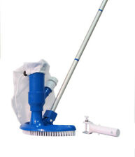 Swimming Pool & Spa Jet Vacuum W/ Brush, Bag, Hose Adaptor & Pole