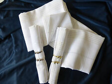 "NIB J C PENNEY HOME COLLECTION 9 PIECE TABLECLOTH SET 60"" X 84"" WHITE"