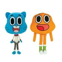 "14"" Official Large Amazing World Gumball DARWIN Plush SET Stuffed Toy Licensed"