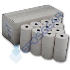 More details for 20 57mm x 57mm 57x57mm single ply paper cash register till printer receipt rolls