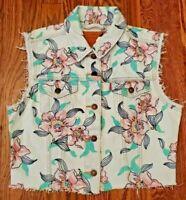 Levis Premium Denim Cropped Bloom Vest Women's Size Medium NEW WITH TAGS