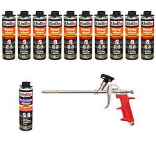 Pistolenschaum 10 x 500 ml + 1 Metall Schaumpistole +1 PU Reiniger Montageschaum