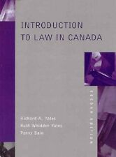 Introduction to Law in Canada (2nd Edition)