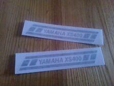 Yamaha XS 400 Moto Motocicleta Carenado Tanque Adhesivo Calcomanía x2 @ 105 X 17 mm