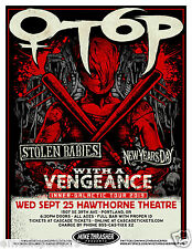 OTEP/STOLEN BABIES/NEW YEARS DAY 2013 PORTLAND CONCERT TOUR POSTER - Metal Music