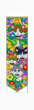 CATS HIDING IN FLOWERS PONY BEAD BANNER PATTERN