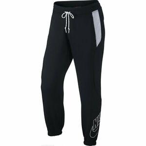 Nike Mens Fabric Mix Cuff Pants Black/Gray S