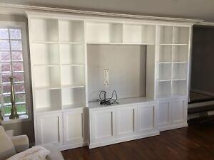 """Kellyville 4.0"" Classic Integrated TV Wall Unit Bookshelf Living Room Furniture"