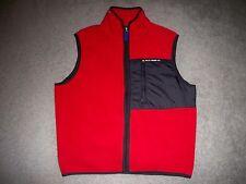 Mens Vintage POLO JEANS CO. by RALPH LAUREN Fleece Vest M RED & BLACK w/Logos