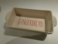 Rae Dunn xmas GINGERBREAD  Loaf Dish bread  Artisan Collection Rectangle NEW
