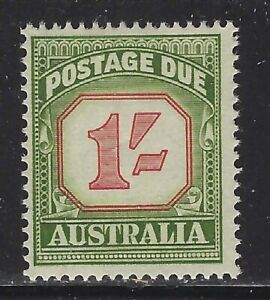 Australia 1960 1/ Redrawn Green & Carmine Postage Due Sc# J94a mint