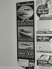 1939 Chris Craft ad, wood motor boats
