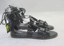 997a9fe8f30 new Summer Black Gold Memory Foam Insole Sexy Lace Up Sandals Shoes Size 9