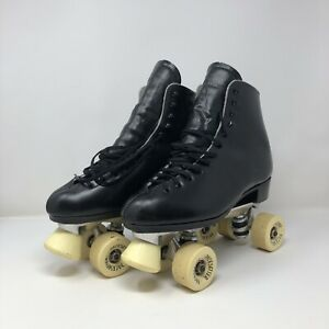 Vintage Dominion Roller Skates Mens Size 9 Wmns 9.5 With Pacesetter Wheels