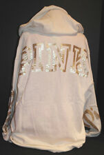Victoria's Secret PINK Campus Pullover *New w/o Tag* Ivory BLING *Large*