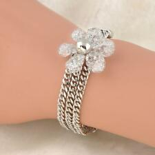 New Fashion Women Jewelry White Gold Plated Crystals Rhinestone Bracelet Bangle