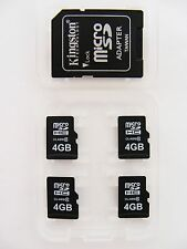 4 x 4GB Micro SDHC Card Class 10 ( 4 x 4GB MicroSDHC ) + 1 x Adapter Neu