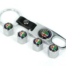 Universal Car Tire Valve Dust Stems Air Caps Cover Keychain For Alfa Romeo