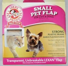 New Ideal Pet Products Small Locking Door Flap 6 1/4 x 6 1/4 Cats and Dogs White