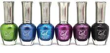 6 Kleancolor Full Size Metallic Lot GEL NAIL POLISH Colors Set