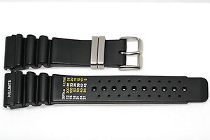 24MM BLACK RUBBER WATCH BAND STRAP FOR AQUALAND PROMASTER DUPLEX ND LIMITS