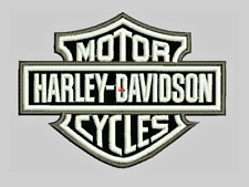 "Vintage Harley Davidson embroidered patch Sew On 3.5"" wide"