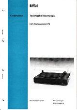 Service Manual-Anleitung für Braun P 4