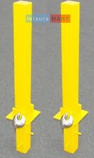 2 x Security parking posts, fold down heavy duty, Parking Bollard Maypole MP9739