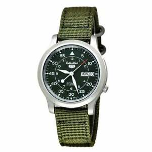 Seiko 5 Automatic Military Style Green Men's Watch SNK805K2 RRP £169