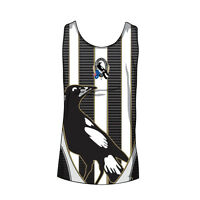 AFL New Collingwood Magpies Adult Mens Training Singlet - sizes S to 3XL