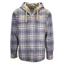 Mens Prana Bolster Long Sleeve Hooded Flannel Jacket