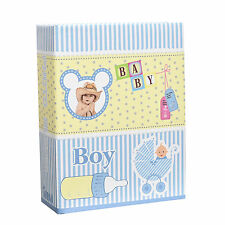 Small Baby Boy Blue 6x4 Photo Album Slip in Case for 100 Photos AL-9140