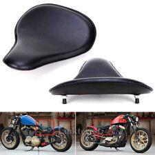 "3"" Leather Motorcycle Sportster Chopper Bobber Custom SOLO Spring Bracket Seat"