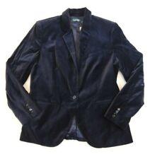 $265 Ralph Lauren Velvet Sport Coat One-Button Blazer Dress Formal Jacket 16 NVY