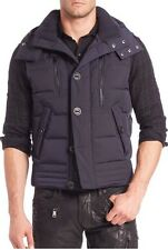900$ Ralph Lauren Black Label Hooded Navy Down Vest Navy Size XL