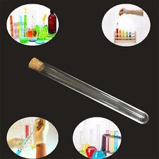 Glass Test Tube Round Bottom with Cork Stopper Borosilicate Chemistry  BP
