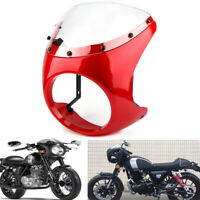 "7"" Front Motorcycle Headlight Handlebar Fairing Windshield For Harley Cafe Racer"