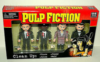 NECA 4 Mini Figure Set Pulp Fiction Clean Up Crew New NOS 2004 Travolta Jackson
