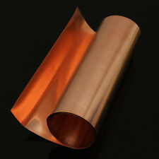 99.9% Pure Copper Metal Sheet Foil Plate  0.1 x 200 x 1000 mm