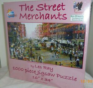 Street Merchants 1000 pc Auto-mobiles horse wagons Sunsout jigsaw puzzle 25273