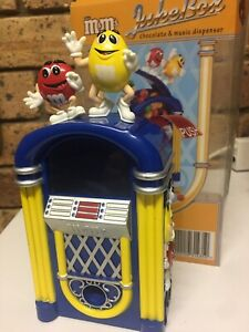 M&M's Jukebox Candy Dispenser with Red And Yellow