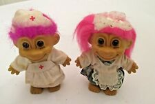 """2 RUSS 4 1/2"""" TROLL DOLLS MADE IN CHINA"""