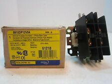 Square D 8910DP12V04 Definite Compact 277VAC Contactor 2 Pole Open Type NEW