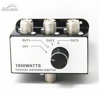 1000 Watt 3 Way Antenna Coaxial Switch for CB 10 Meter Ham Radio