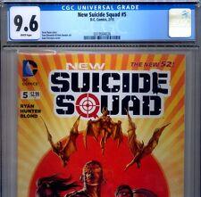 PRIMO:  New SUICIDE SQUAD #5 NM+ 9.6 CGC HARLEY QUINN DC 52 movie comics lot